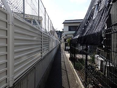 江波中学校の横の細い細い道(射的場のなごり)